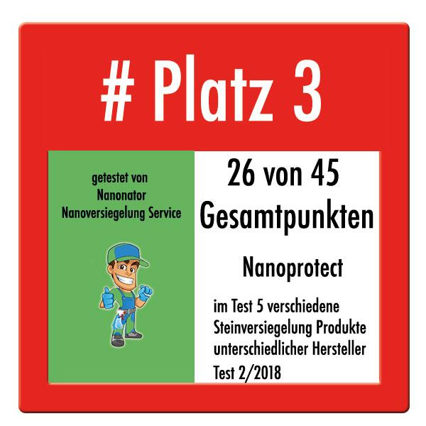 Platz 3 Mellerud Test Nano Steinversiegelung