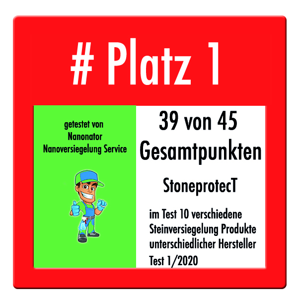 Platz 1 und Testsieger Steinversiegelung 2020 CleanglaS Stoneprotect SP5000 Brio International Inc