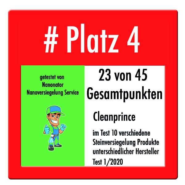 Platz 4 Steinversiegelung Test 2020 Cleanprince